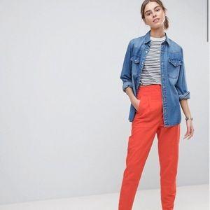 New ASOS Tall Tailored High Waist Linen Peg Pants